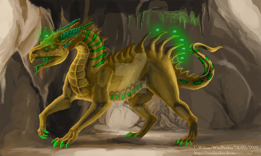 Seth Dragon - Art Trade by WindSeeker