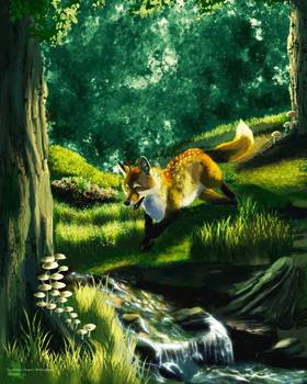Thom the DeerFox - ArtFight 2021