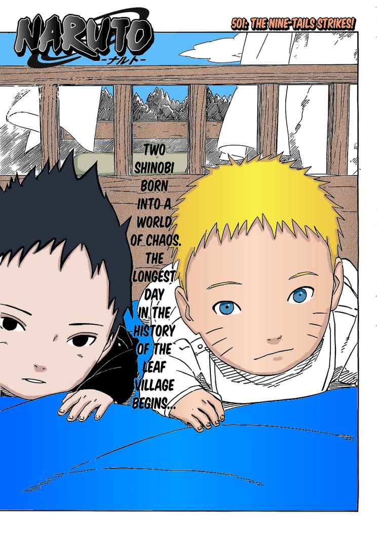 Uncategorized Naruto Manga Color Pages naruto manga 501 page 1 colour by thisisorickx on deviantart thisisorickx