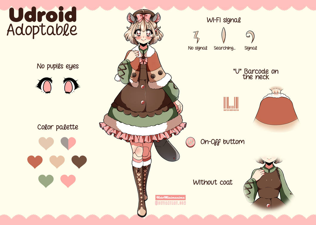 [Adoptable] Udroid Chinchilla - CLOSED by Hele-Bun