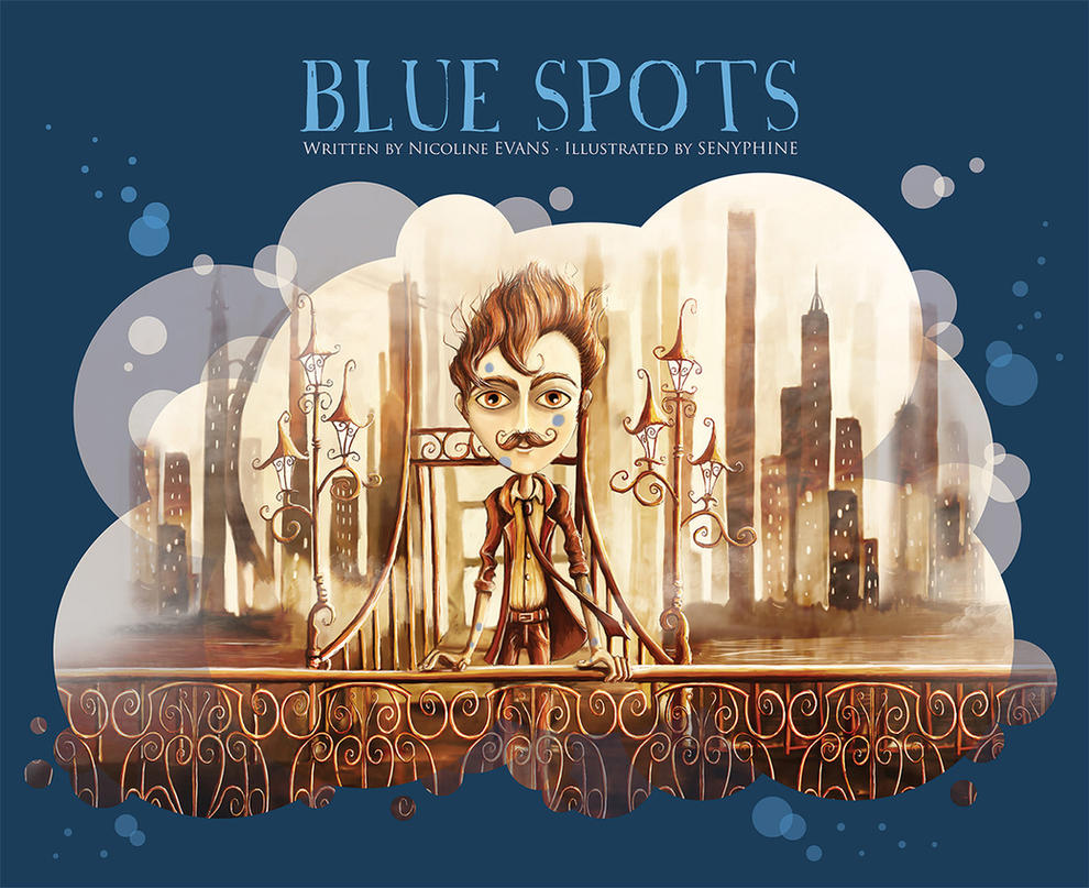 Illustrated Children S Book Covers ~ Blue spots children s book cover by senyphine on deviantart