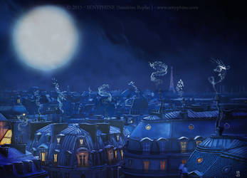 The Roofs of Paris by senyphine
