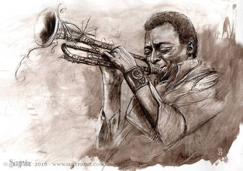 Miles Davis by senyphine
