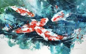 Speed Painting - Koi Fish