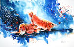 Speed painting - Arowana Fish