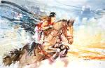 Equestrian Watercolor