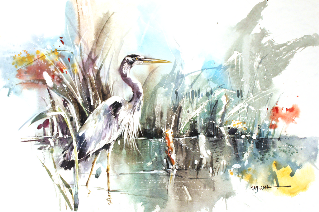 Heron Art Painting