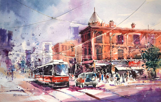 Toronto - Watercolor Painting
