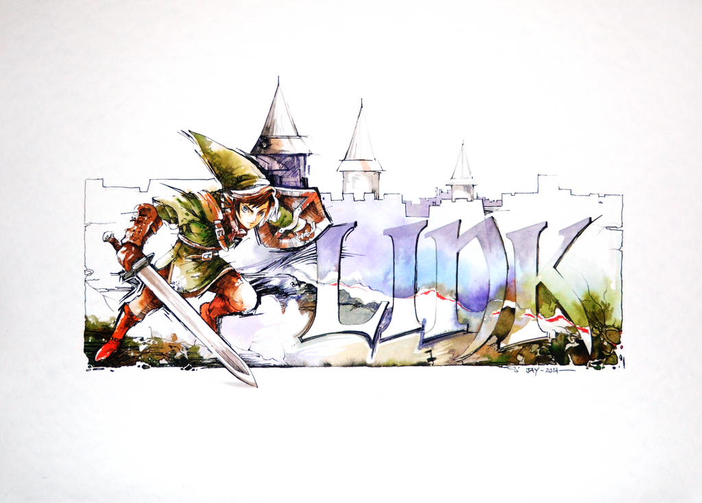 video game watercolors 2 link painting video by abstractmusiq - Painting Games 2