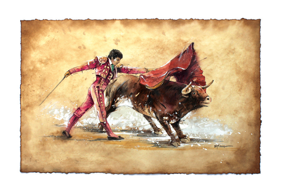 Matador Oil Painting