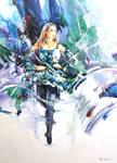 Riverdance - Watercolor on Terraskin