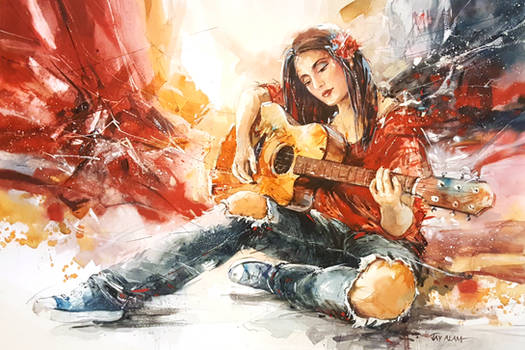 Carefree - Watercolour Painting