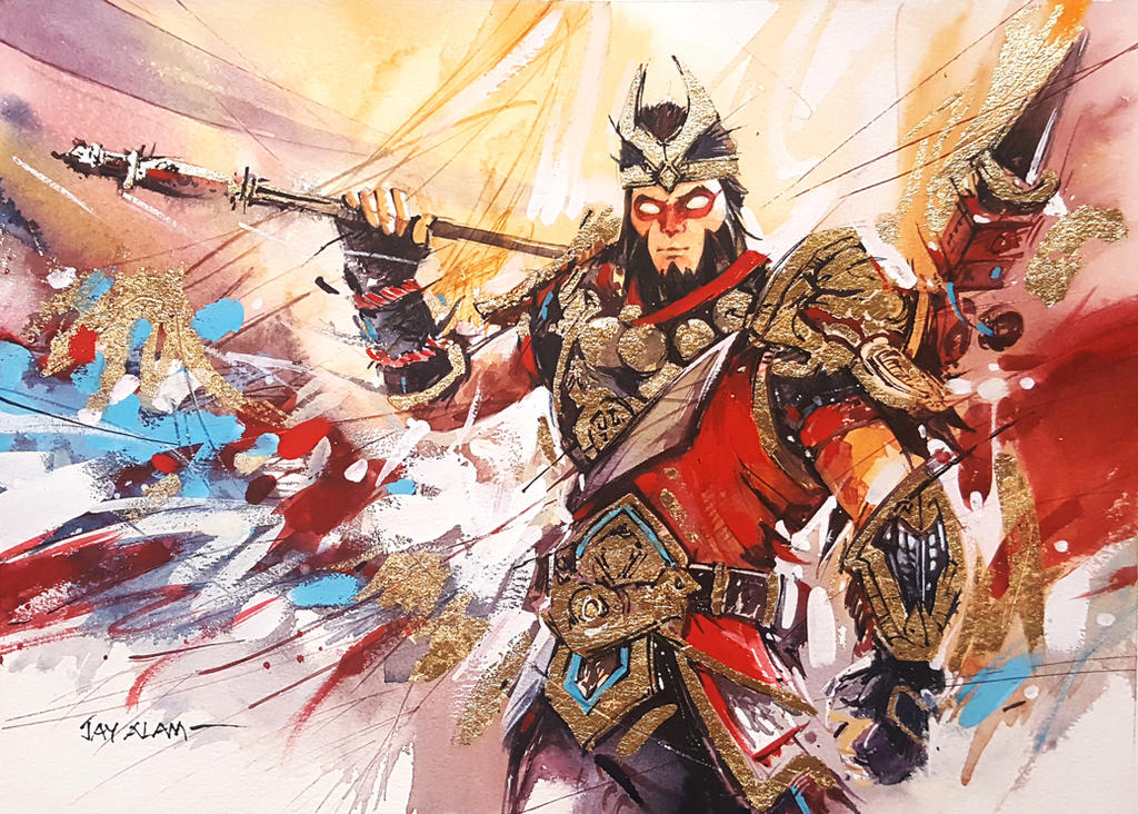 Fortnite #2- Wukong - Watercolour Painting by ...