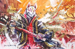 Fortnite #3- Drift - Watercolour Painting