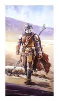 Watercolor Painting - The Mandalorian