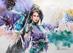 Watercolor Painting - Sage - Valorant