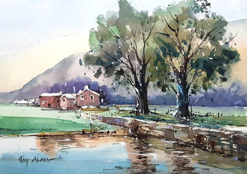 Watercolour Landscape Demonstration #2