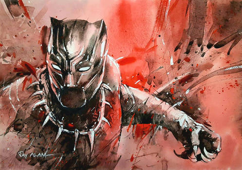 Black Panther - Watercolour painting