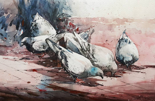Rocks - Watercolour Painting