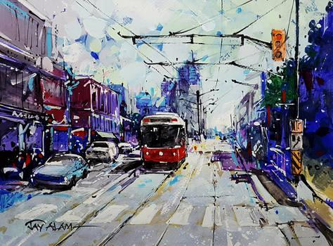 Toronto Streets (Gouache Version)