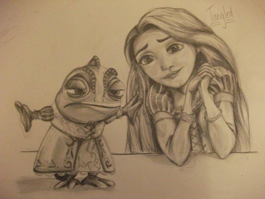 Tangled: Pascal and Rapunzel by 0han-nah0