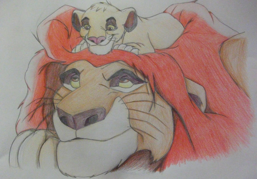 Lion King- Simba and Mufasa by 0han-nah0 on DeviantArt