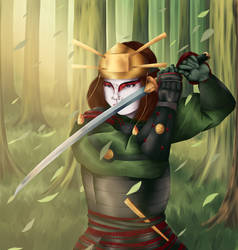 The Leader of the Kyoshi Warriors