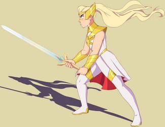 She-Ra in Pflug stance
