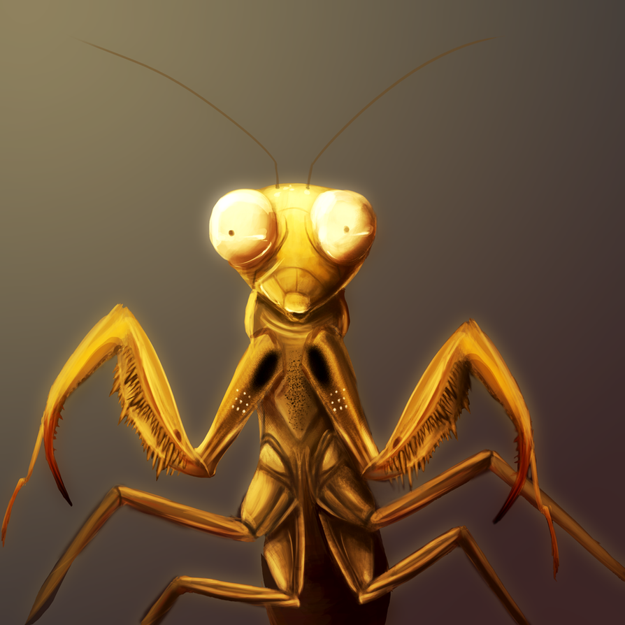 praying mantis Louie pain png finishedt by GhettoRainbowCat
