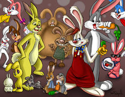 A lot of Rabbits by GhettoRainbowCat