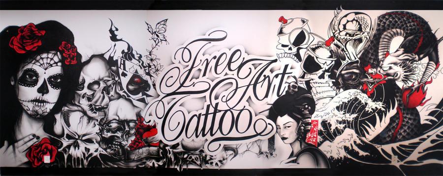 free art tattoo wall by ewil33 on DeviantArt