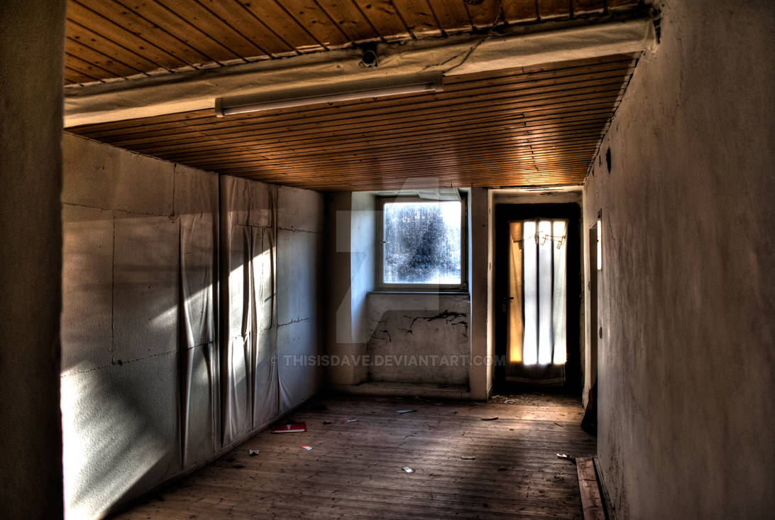 Sun shines into room of abandoned house