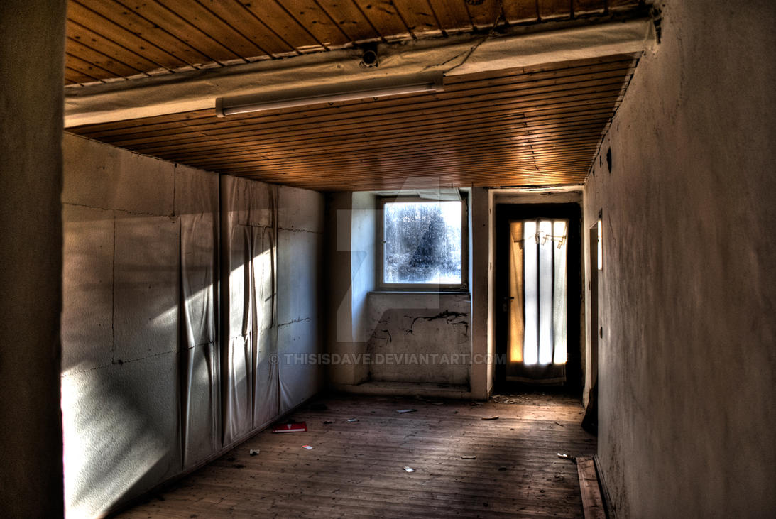 Sun shines into room of abandoned house by ThisIsDave