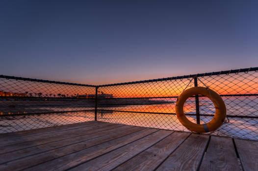 Life-Saver at Marsa Alam Pier at Sunset