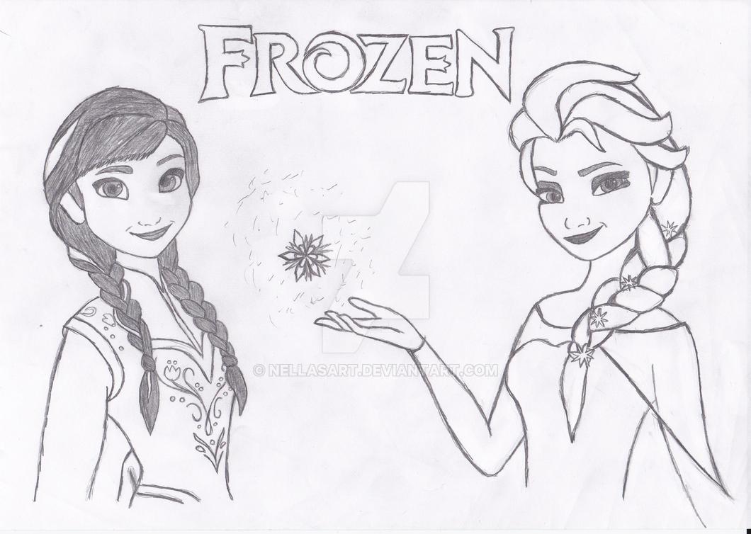 Princess Anna and queen Elsa from Frozen! by NellasArt on DeviantArt