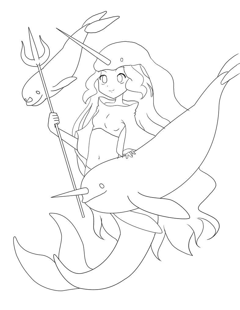 Narwhal Mermaid by VioletEmbersYT