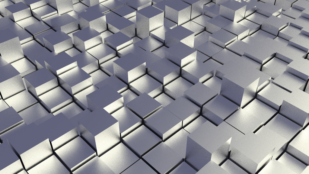 Chrome Cubefield Abstract Wallpaper By D Money 16 On