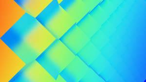 Abstract Rainbow Cubefield