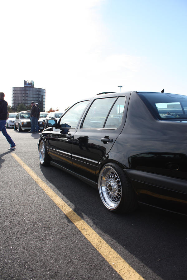 vw jetta mk3. MK3 vw jetta on chrome BBS RS