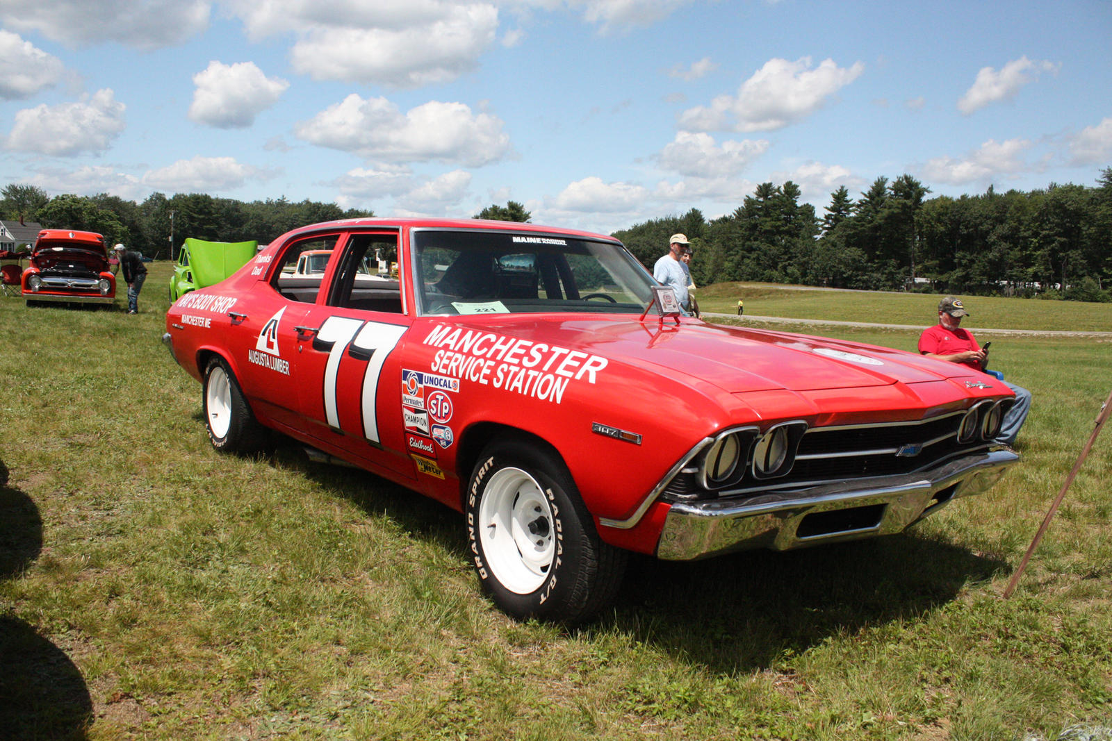 old chevelle race car by