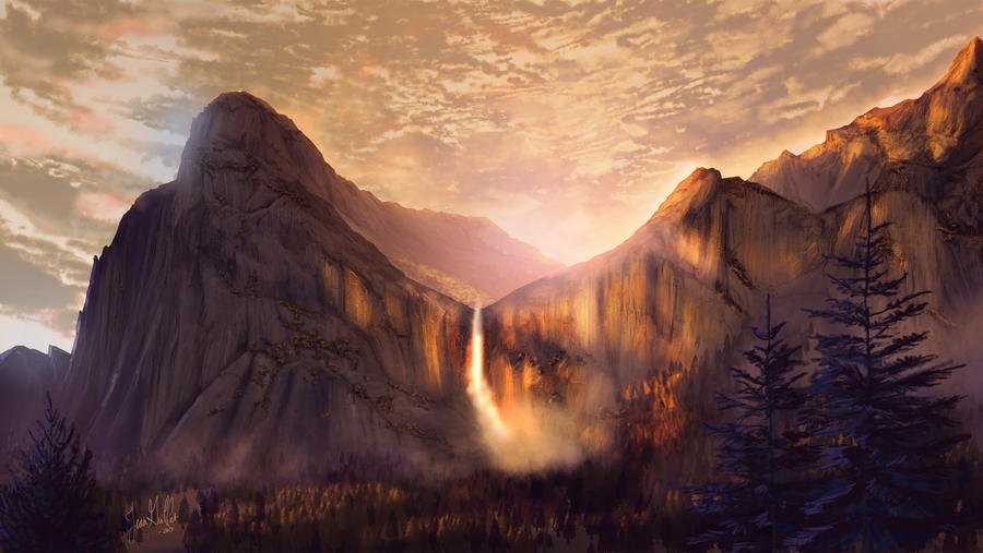 Bridalveil Fall by chateaugrief