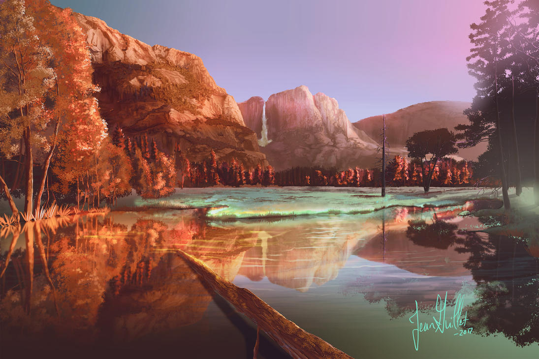 Yosemite River by chateaugrief