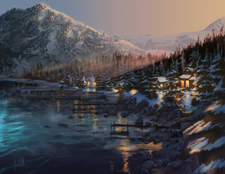 Lake Tahoe by chateaugrief