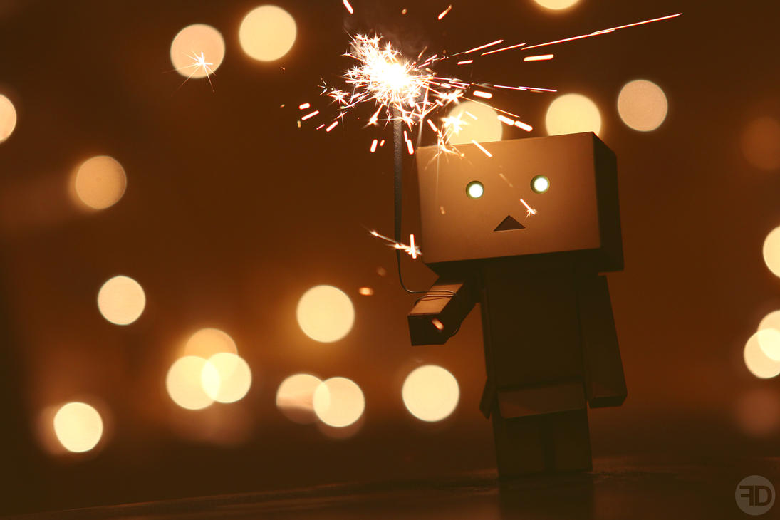 danbo and sparkler by sp333d1