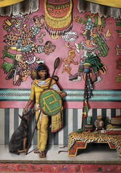 Aztec General and his dog