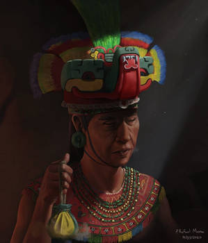 Huezaa yeche Zapotec Priest