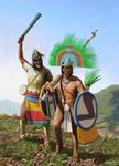 Huey Tlatoani Axayacatl and Lord Tlacaelel