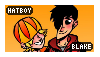 [Comm] Stamp-Hatboy and Blake by AKoukis