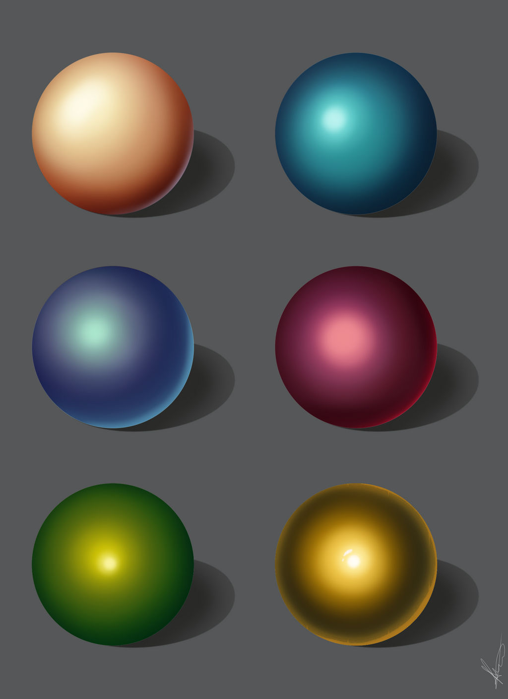Color and shading study