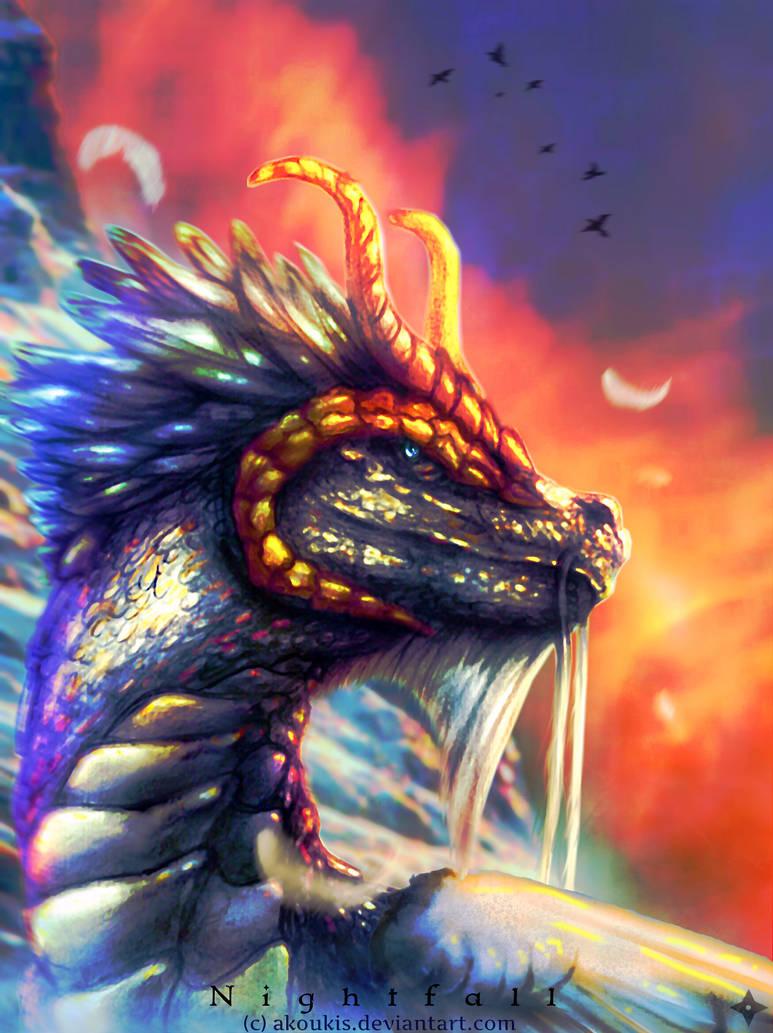 .:Atheron - The Great Dragon:. by AKoukis